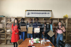 Beston Egg Tray Machine Cooperation with Mali Customers