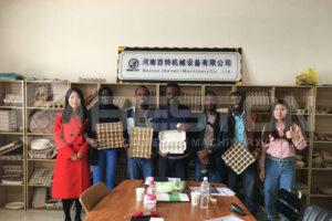 Beston Machina ovum Tray cooperari Mali Customers
