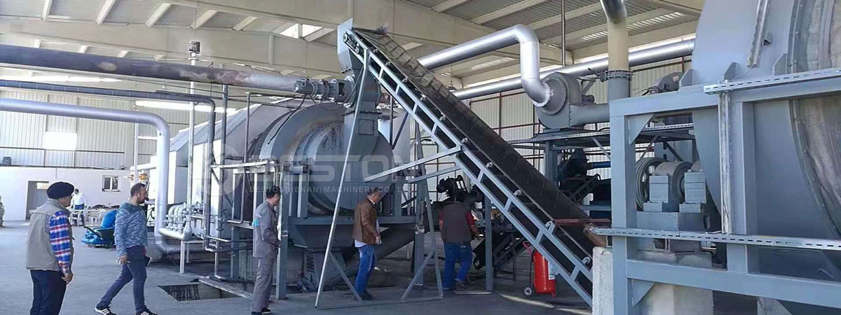 Beston Palm Kernel Shell Charcoal Making Machine for Sale