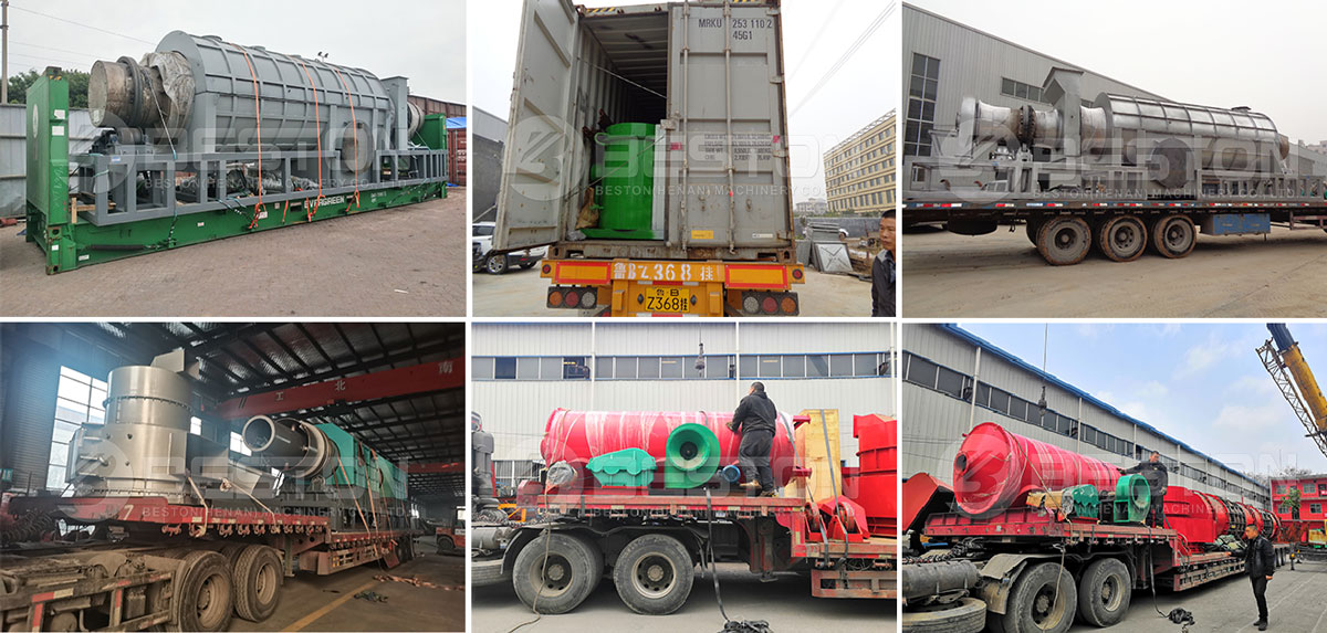 Delivery of-Beston Palm Kernel Charcoal Machine