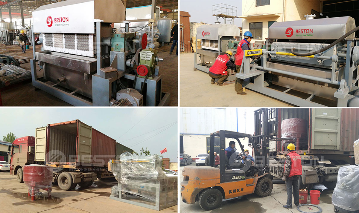 Delivery of Egg Tray Making Machie to India
