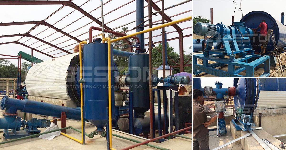 Ibinebenta ang Oil Sludge Pyrolysis Plant