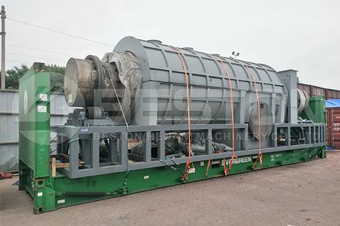 Palm Kernel Fiber Charcoal Machine Shipped to Malaysia