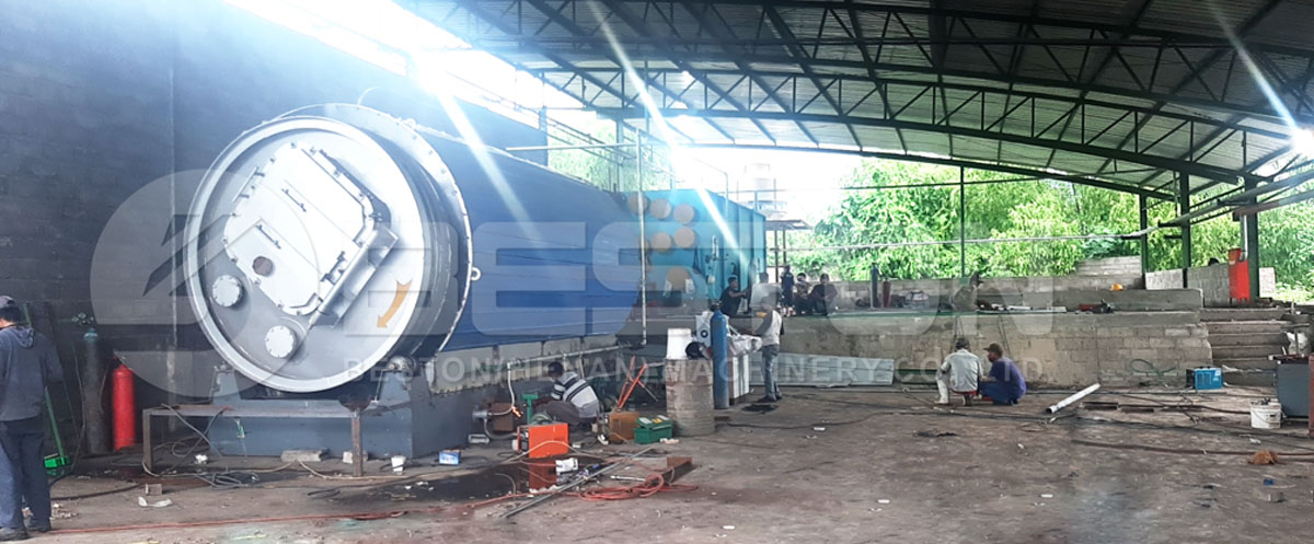 BLJ-6 Tyre Pyrolysis Machine Project in Zimbabwe