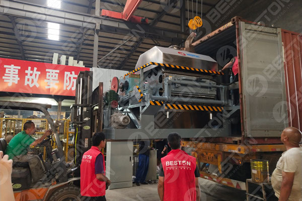 BTF4-8 Egg Tray Making Machine Shipped to Mozambique