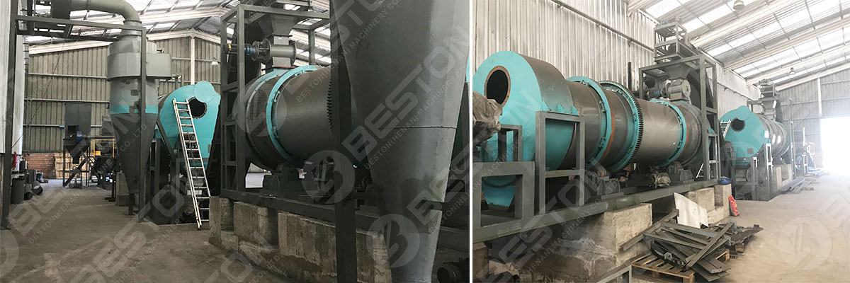 Besotn Biochar Furnace with Safe System Installed in Chile