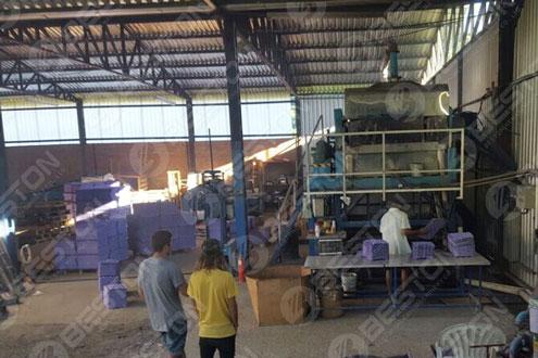 Beston 苹果纸盒制造机在巴西组装