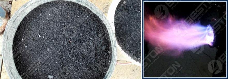 Древесный уголь из осадка сточных вод