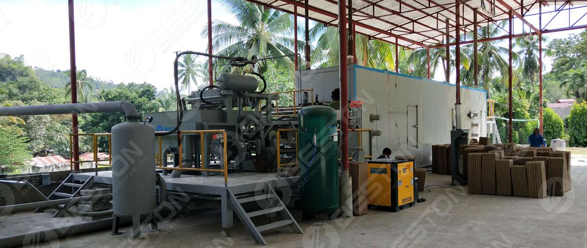 BTF1-4 Beston Paper Pulp Moulding Machine with Metal Dryer Installed in the Philippines