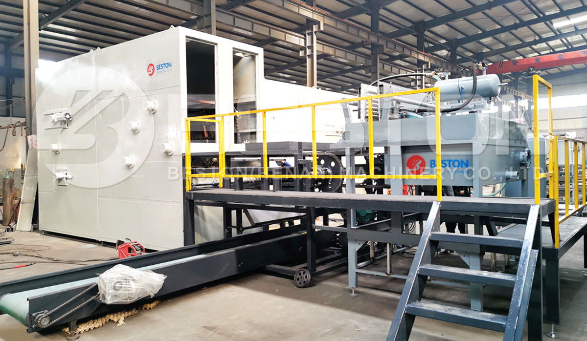 Egg Tray Making Machine with Metal Dryer Installed in the Philippines