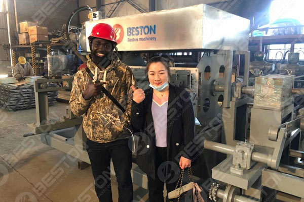 Nigerian Customer Had a Good Feedback for Beston Pulp Moulded Machinery