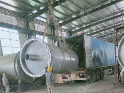 BST-J12 Beston Машина для производства чаркол отправлена в Гану