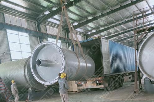 BST-J12 Beston Charcol Making Machine Shipped to Ghana