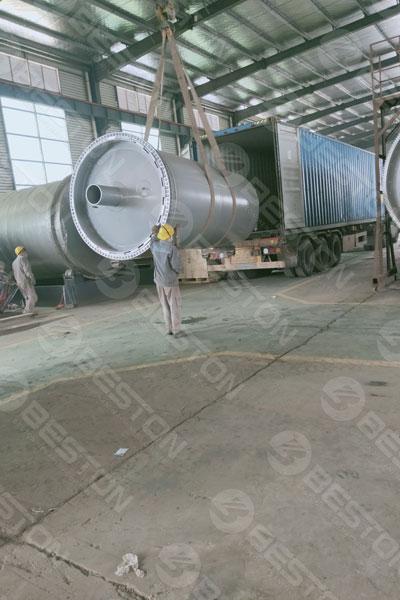 BST-J12 Charcoal Making Machine Shipped to Ghana