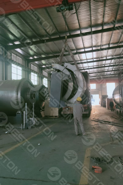 Beston Charcoal Making Machine Shipped to Ghana