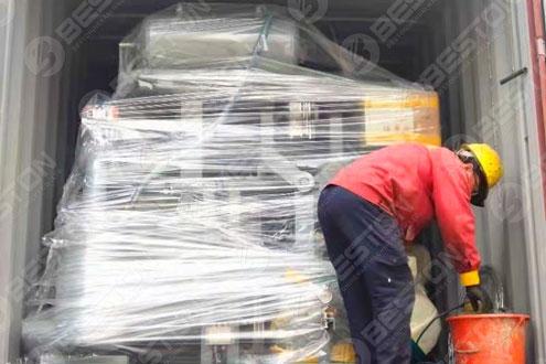 纸浆蛋托盘制造机运往玻利维亚