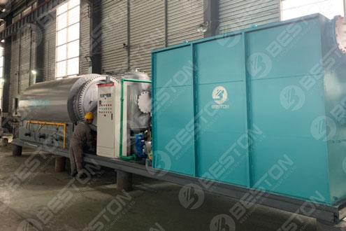 Skid-mounted Pyrolysis Machine Shipped to Paraguay