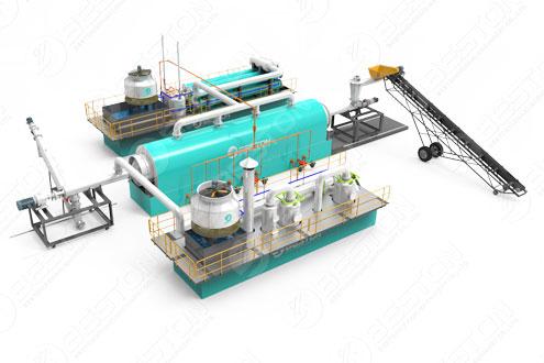 BLL-20 Beston Continuous Pyrolysis Plant