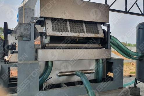 BTF3-4 Beston Egg Tray Making Machine Installed in India