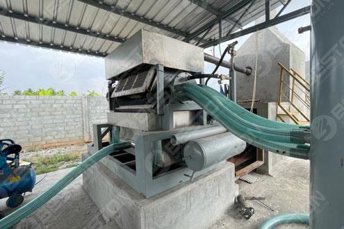 BTF3-4 Egg Tray Machine Installed in India