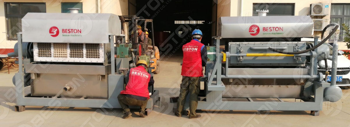 Beston Egg Tray Making Machine Shipped to India