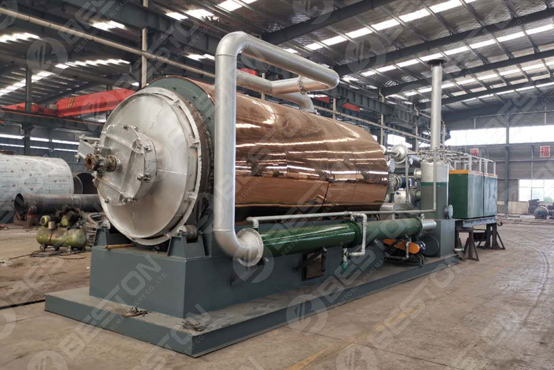Beston MobBeston Mobile Skid-mounted Pyrolysis Plant for Sale with Capacity 1-3 TDile Skid-mounted Pyrolysis Plant for Sale with Capacity 1-3 TD