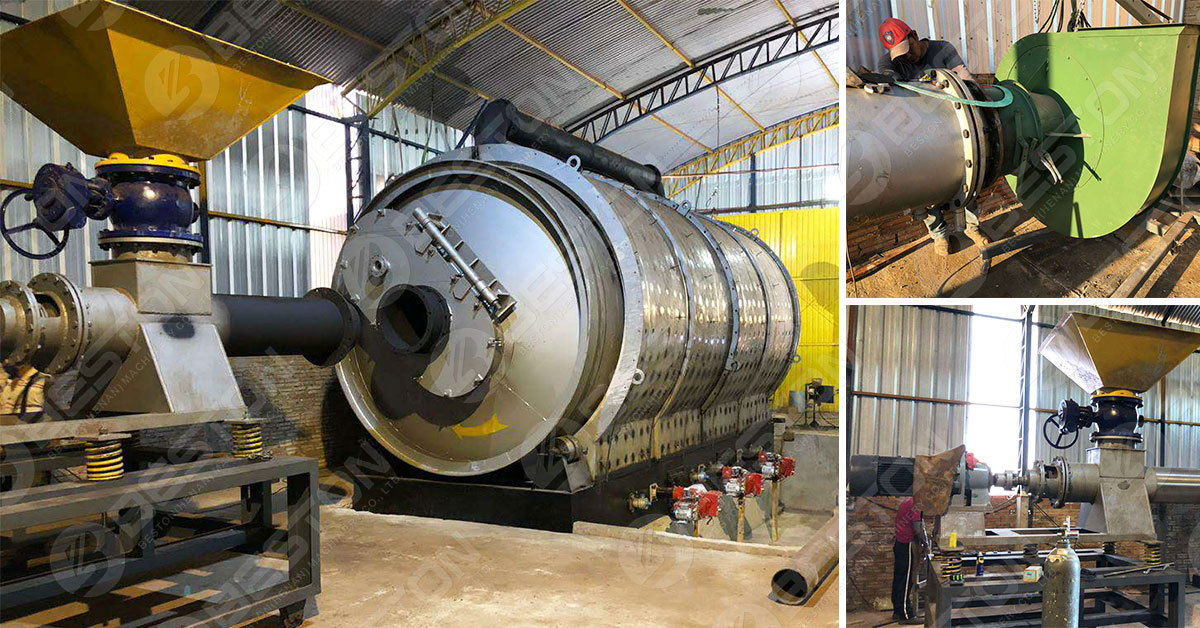 Beston Pyrolysis Plant for Sale with Customized Reactor