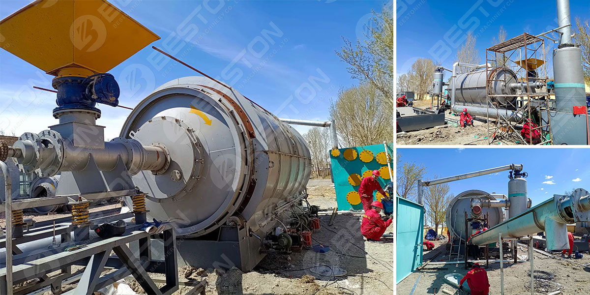 Beston Waste Tyre Pyrolysis Plant for Sale