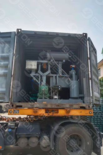 BTF1-4 Small Egg Tray Machine Shipped to Chile