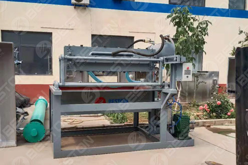 Small Egg Tray Making Machine Shipped to Chile