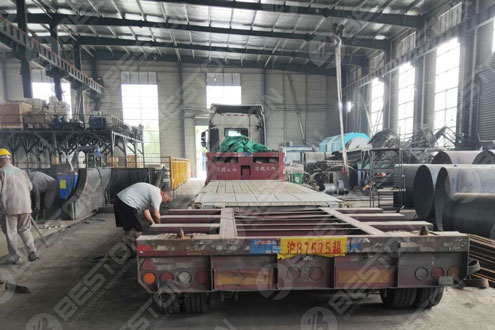 BST-J40 Charcoal Making Machine Delivered to Spain