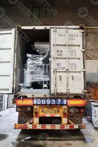 BTF1-4 Egg Tray Machine Shipped to America