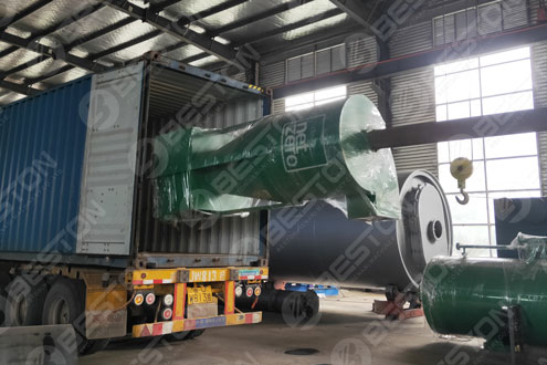 Coffee Husk Charcoal Machine Shipped to Cameroon
