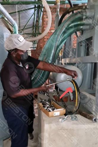 Installment of Egg Tray Making Machine in Zimbabwe