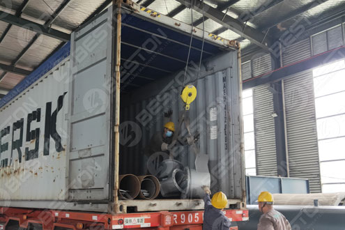 Parts of Charcoal Making Machine Shipped to Spain