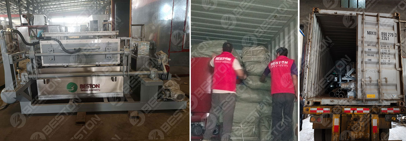 BTF4-4 Egg Tray Machine Shipped to Installed in Bolivia