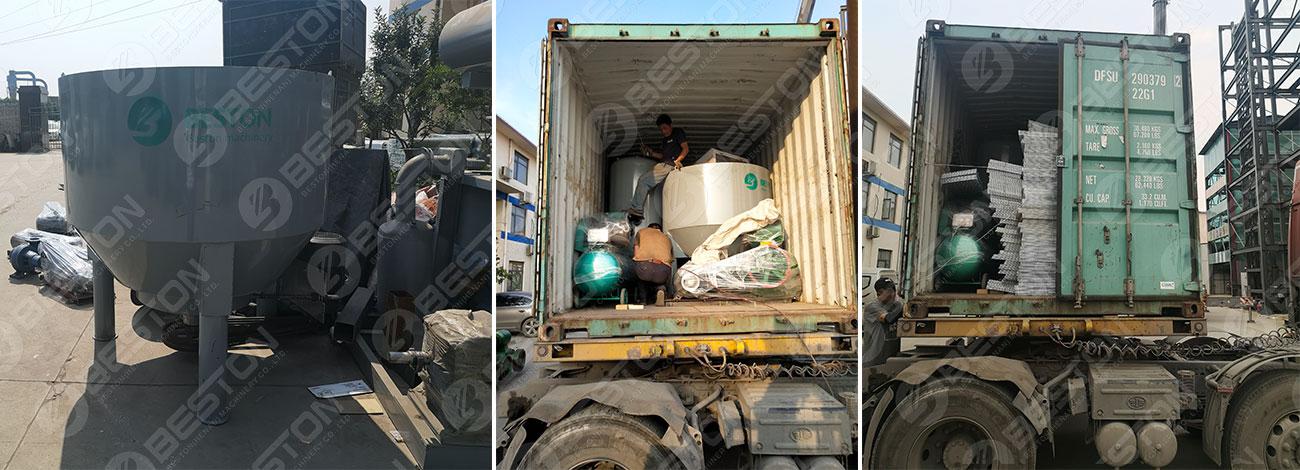 BTF4-4 Egg Tray Making Machine Shipped to Guatemala