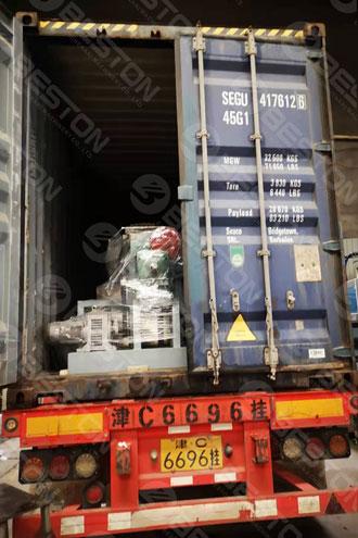 Машина для производства лотков для бумажных стаканов BTF4-4 отправлена в Колумбию