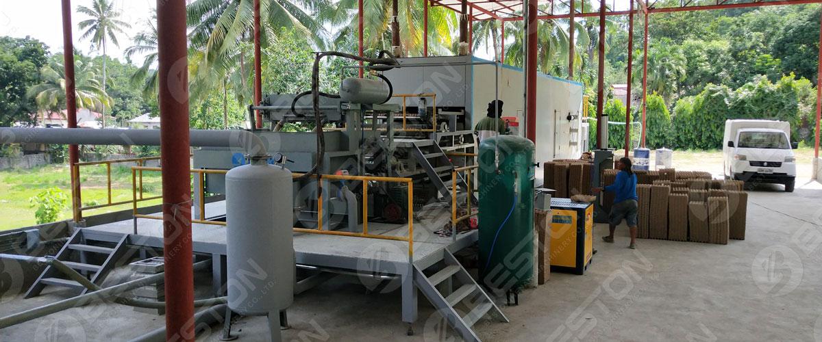 Beston Машина для изготовления небольших бумажных лотков для яиц установлена на Филиппинах