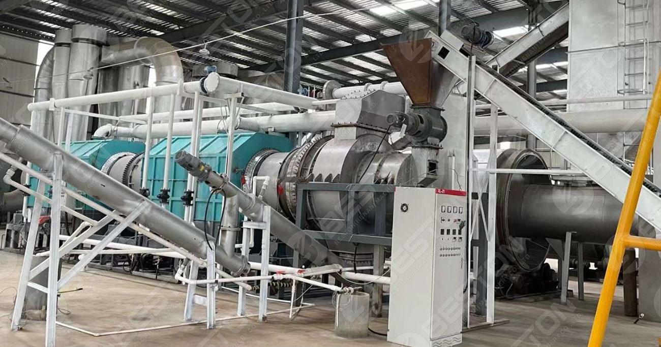 Beston Wood Charcoal Making Machine Shipped to Lianyungang