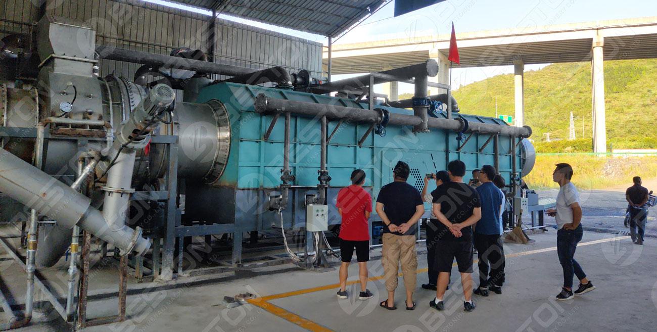 Печь для биоугля с безопасной системой установлена в Гуйчжоу, Китай