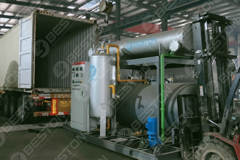 Condenser of Mini Pyrolysis Plant Shipped to Spain