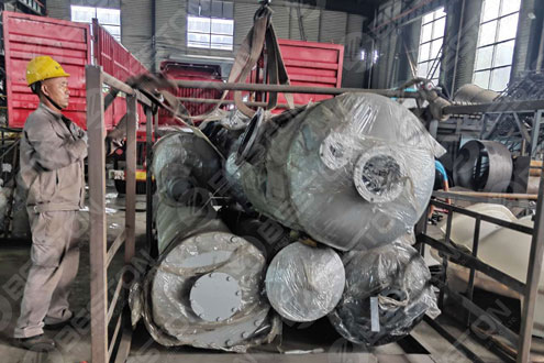 Condenser of Pyrolysis Plant Shipped to Nigeria