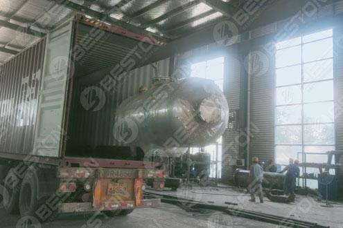 Manifold of Pyrolysis Machine Shipped to Ukraine