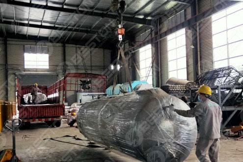 Oil Tank of Pyrolysis Plant Shipped to Nigeria