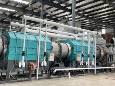 Машина для производства древесного угля из древесной щепы отправлена в Ляньюньган
