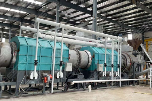 Wood Chips Charcoal Making Machine Shipped to Lianyungang