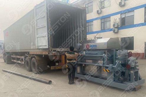 BTF4-4 Beston Egg Tray Making Machine Shipped to Zambia