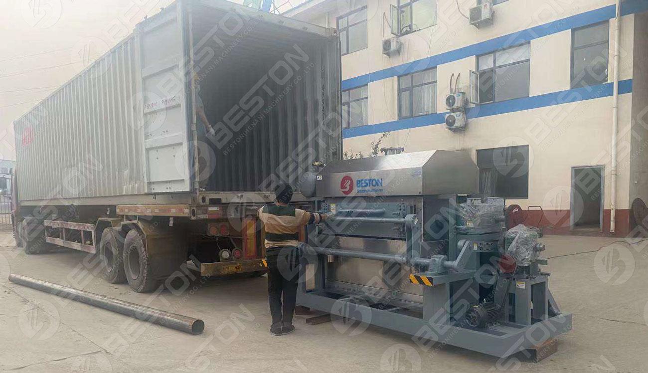 BTF4-4 Egg Tray Making Machine Shipped to Zambia