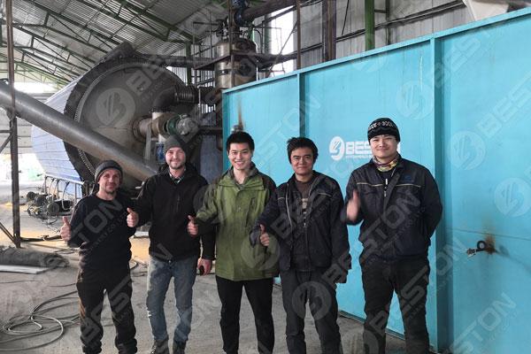 Beston Tires Pyrolysis Planta in Romania facile est tenere
